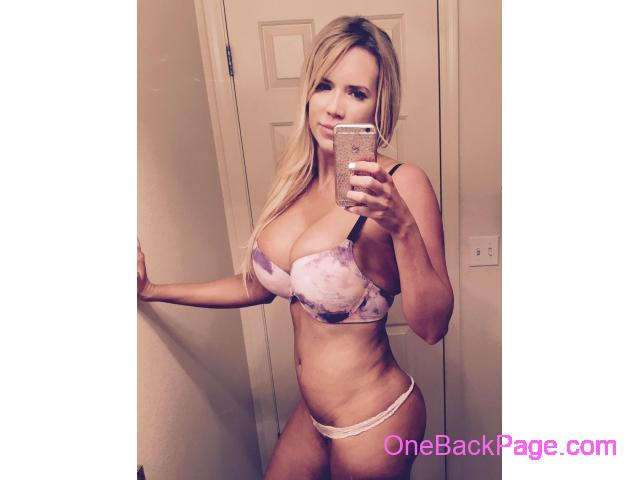 Upscale blonde bombshell Adriana 34DD with hourglass curves